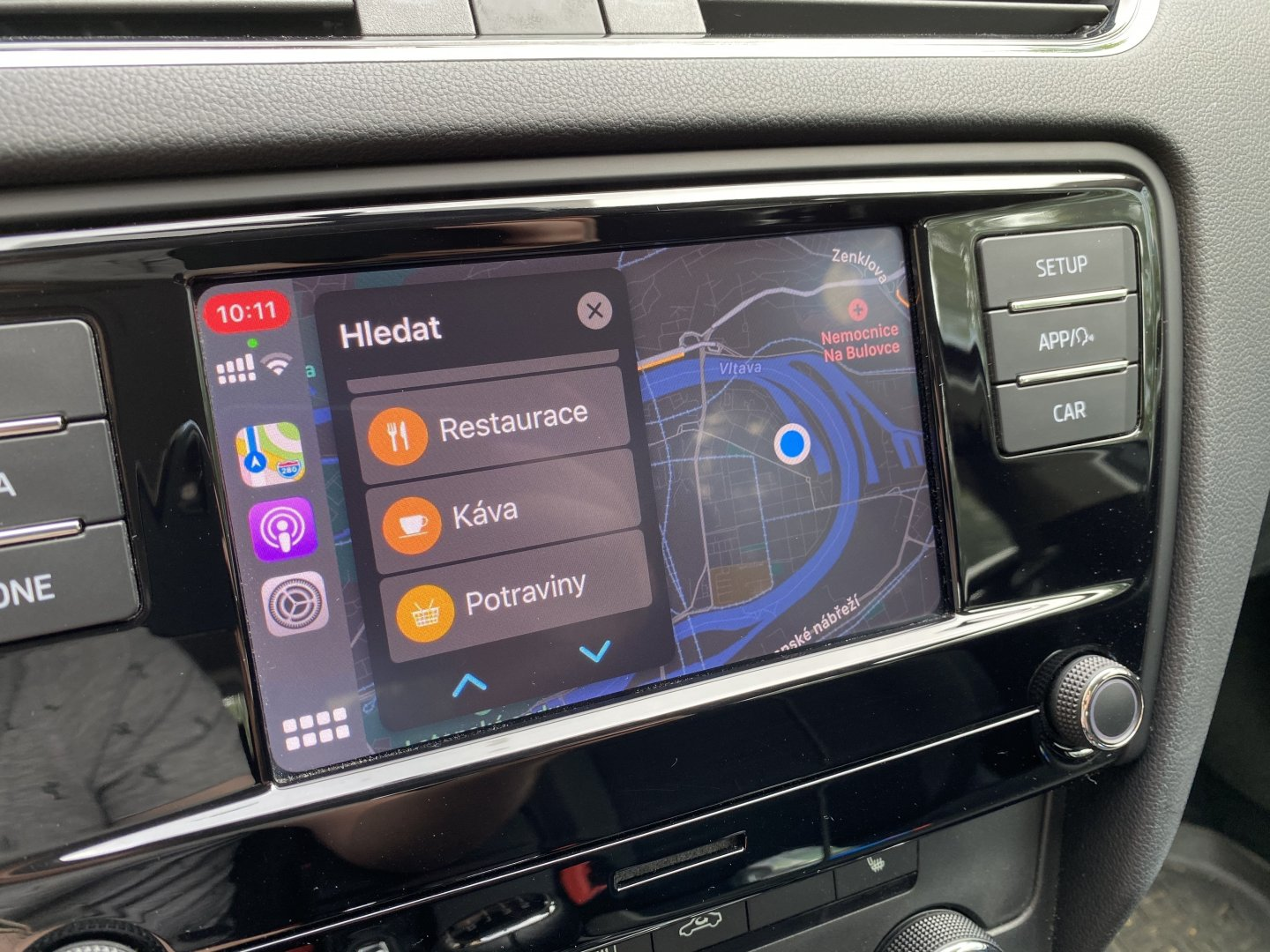 Apple CarPlay restaurace